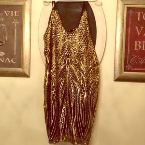 Dresses & Skirts - Gold Party dress!